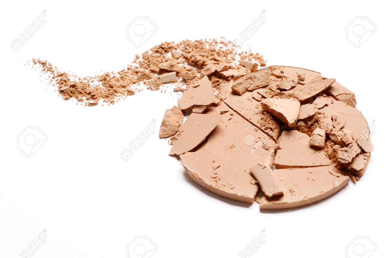 Crushed EyeShadow sample on white for magazine - 88482596