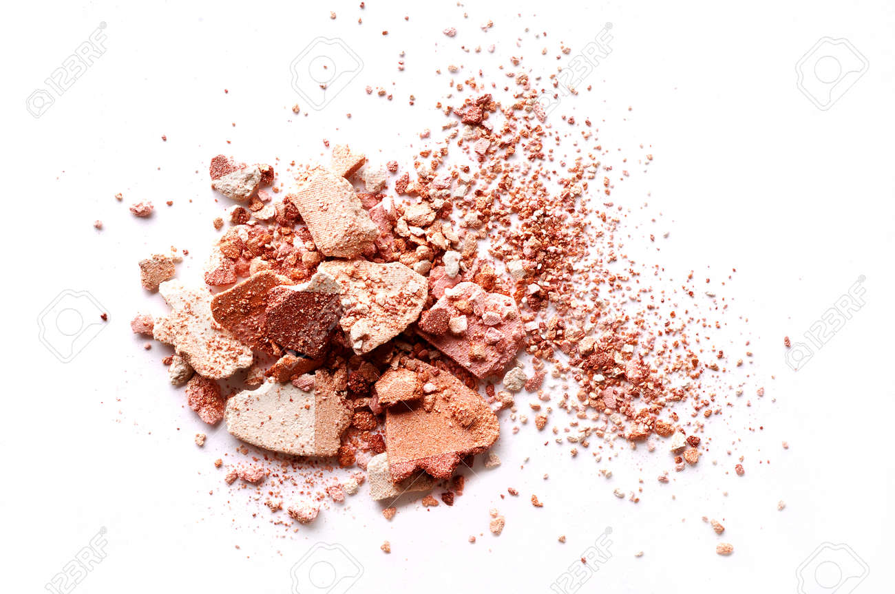 Crushed eyeshadow brown isolated on white background - 88482640