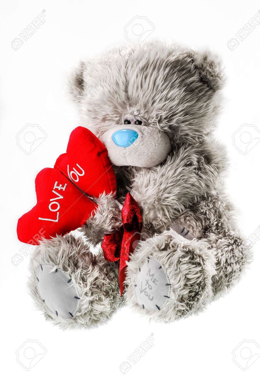 teddy bear for valentines day isolated whate background - 94733433