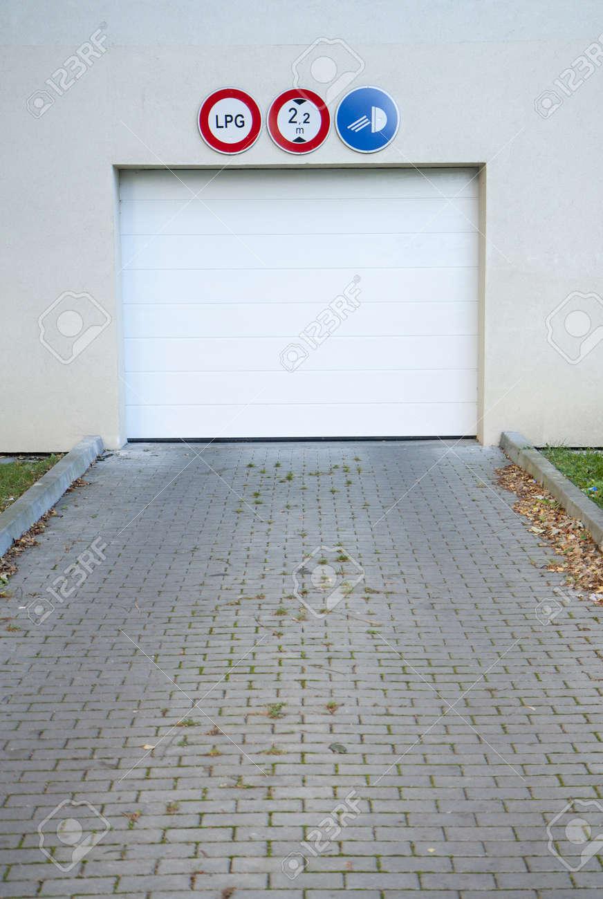 Garage gate to an underground car park Stock Photo - 10901075