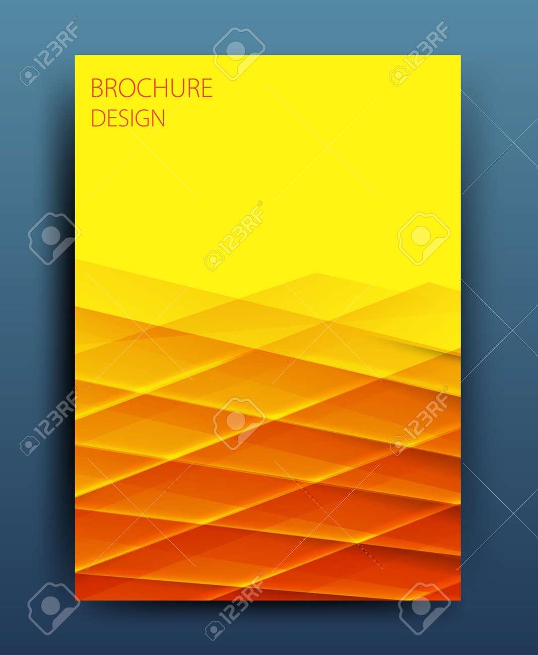 vector business brochure flyer template or corporate banner design