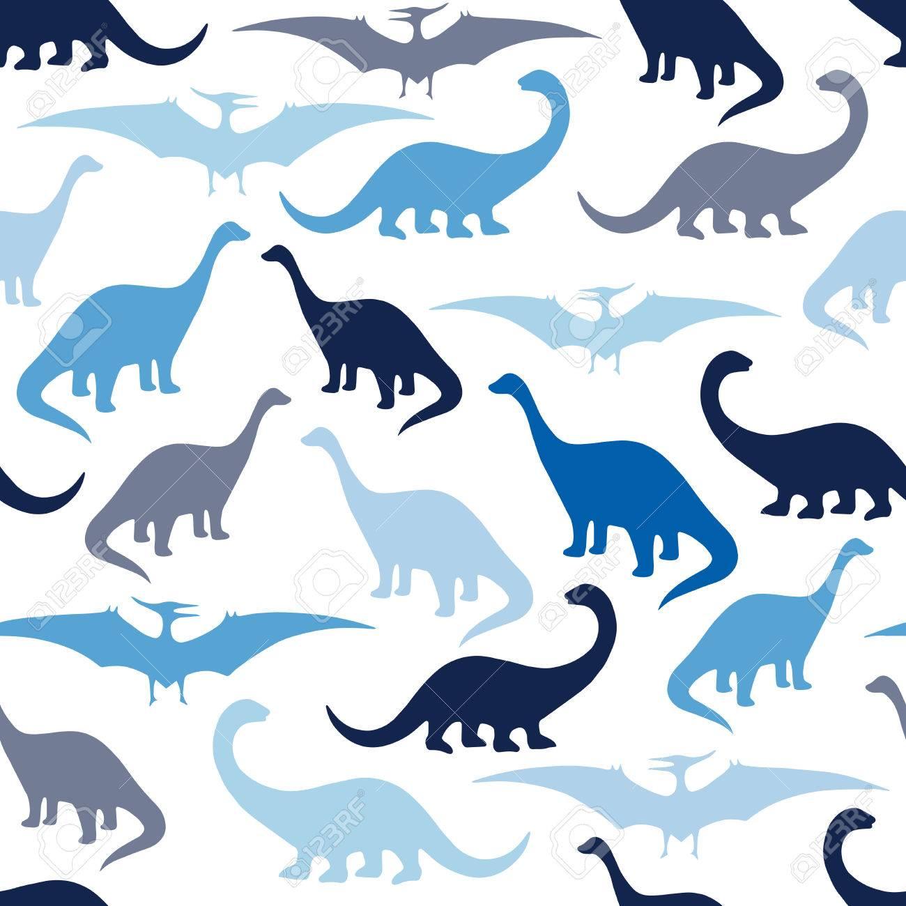 Modelo Inconsútil Con Los Dinosaurios De La Historieta. Para Las ...