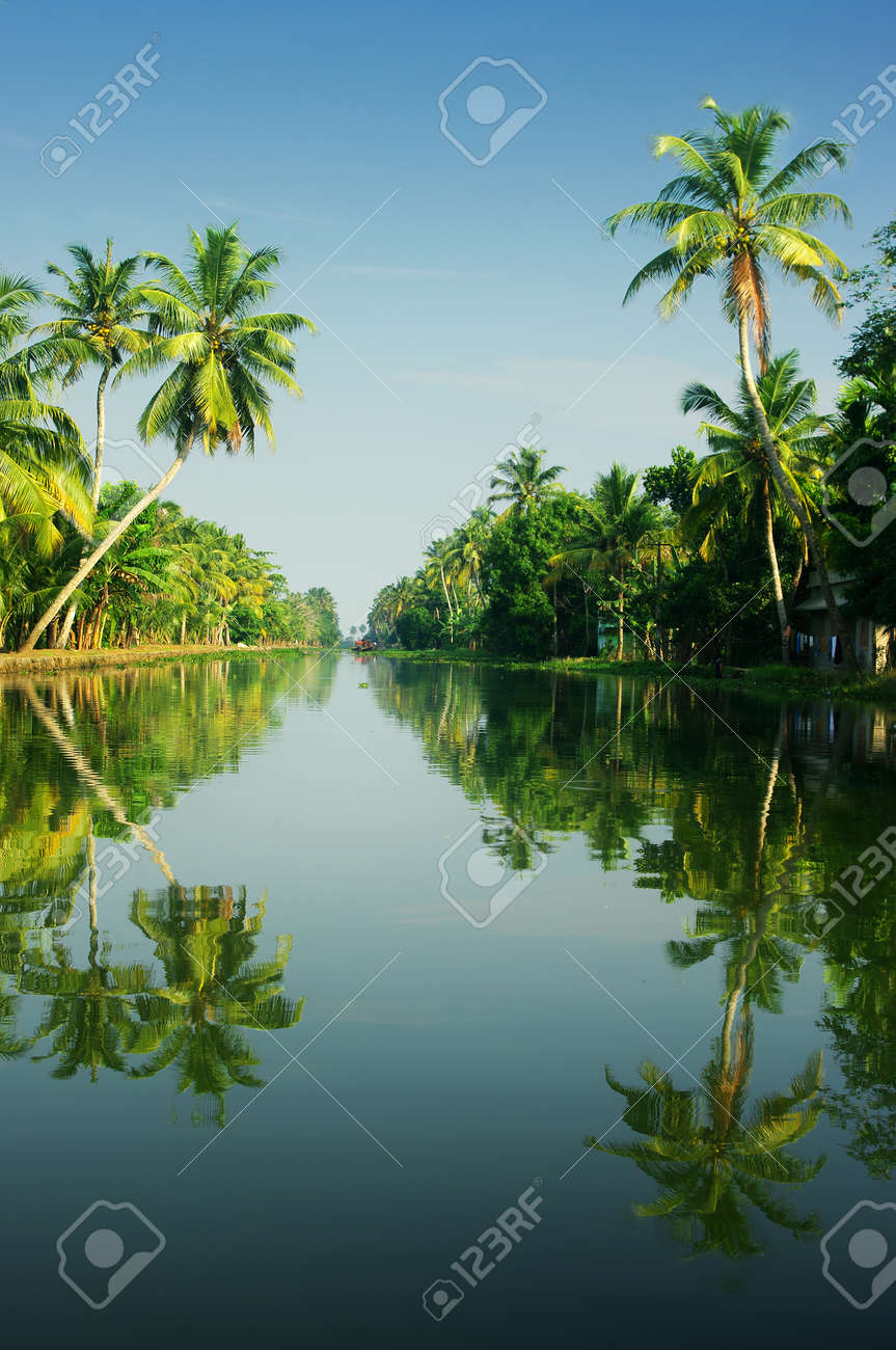 Tropical Landscape Of Kerala India Stock Photo Picture And Royalty Free Image Image 32925053
