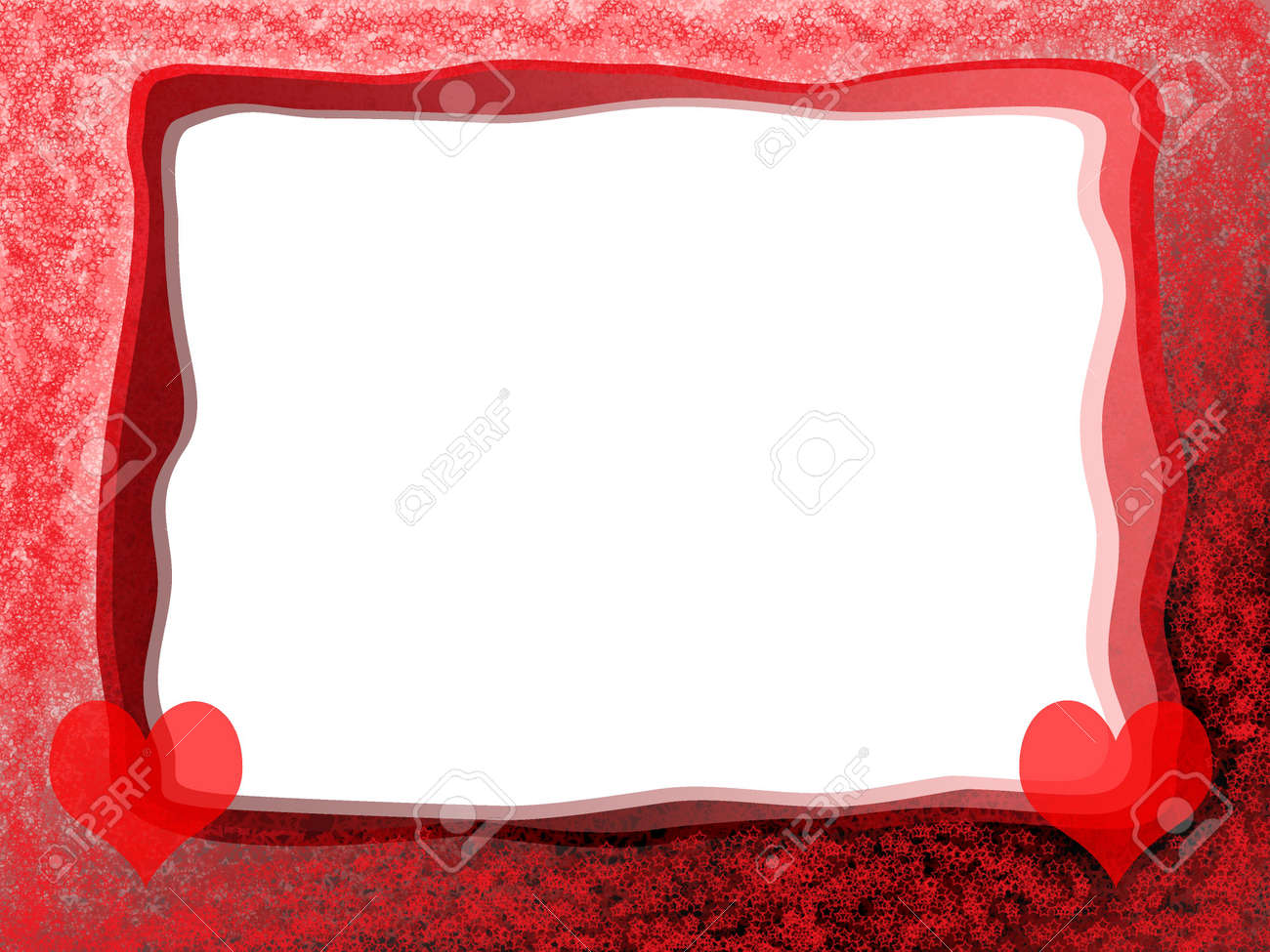 Elegant Tender Romantic Love Frame With Red Hearts And Blank.. Stock ...