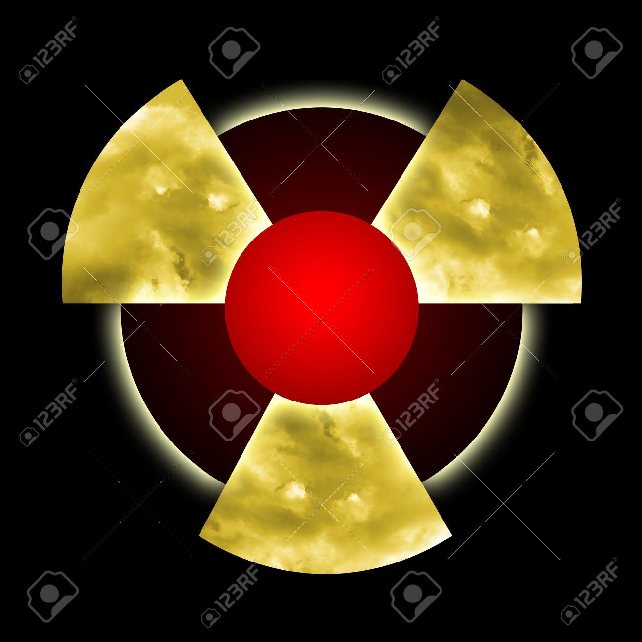 Radioactive pollution atomic dust and smoke inside radioactive radioactive pollution atomic dust and smoke inside radioactive symbol over black background stock photo buycottarizona