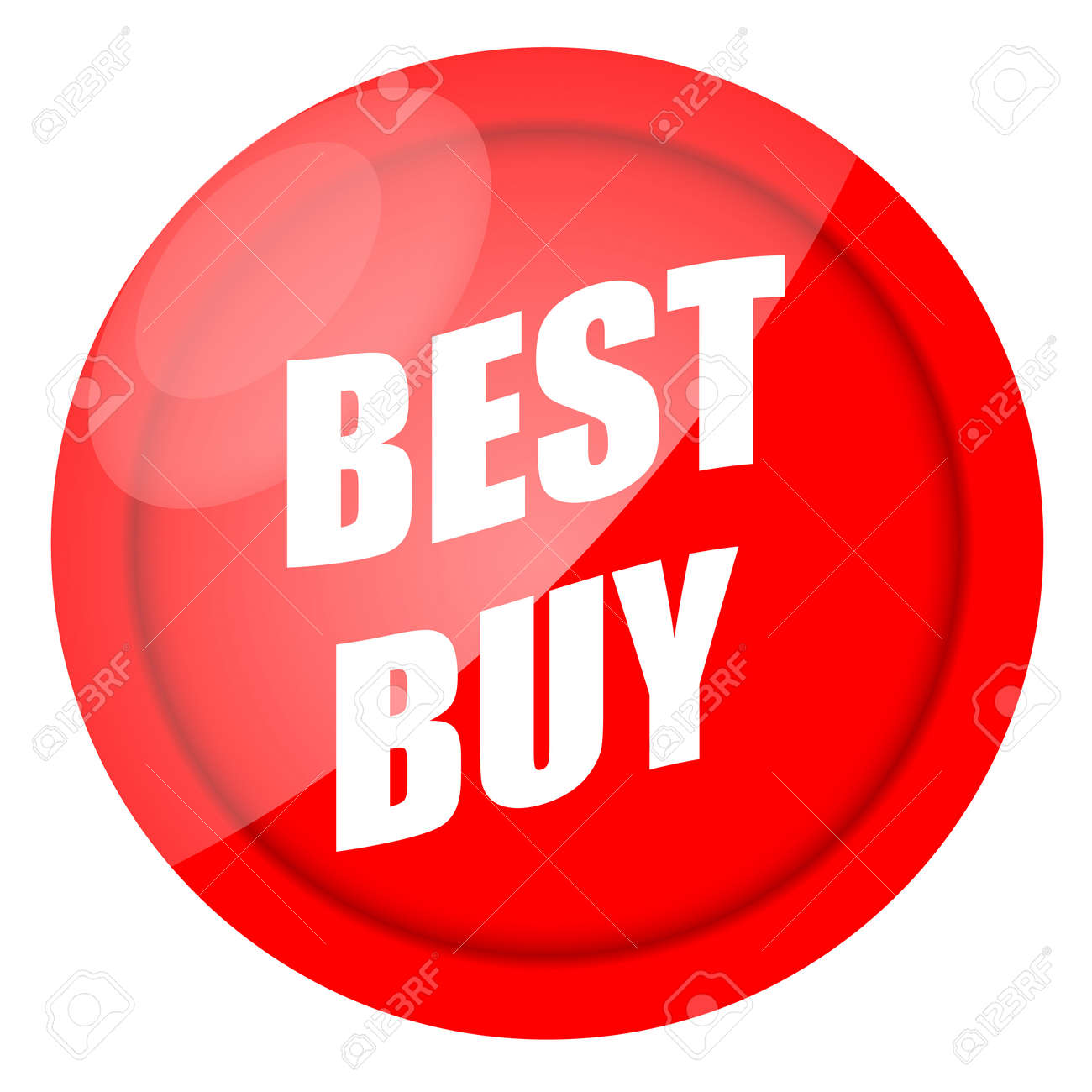 Best buy red sticker isolated over white background Stock Photo - 10048662