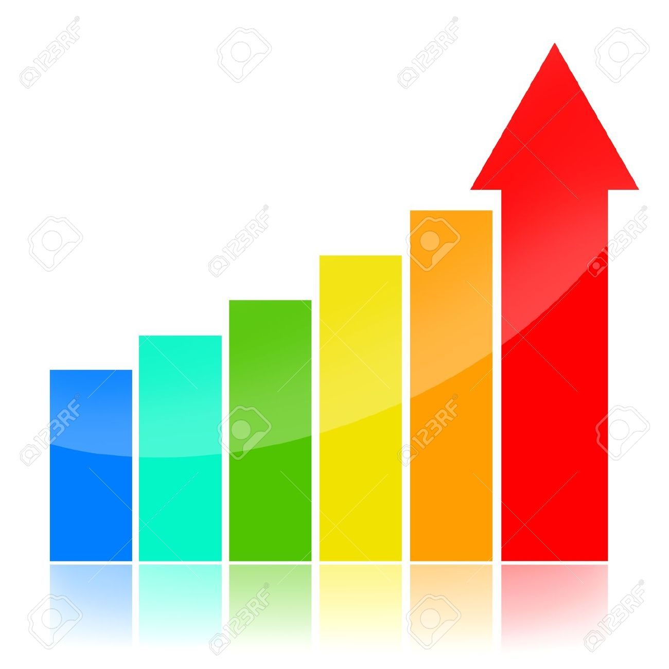 Business success charts, colorful concept isolated over white background Stock Photo - 10182045