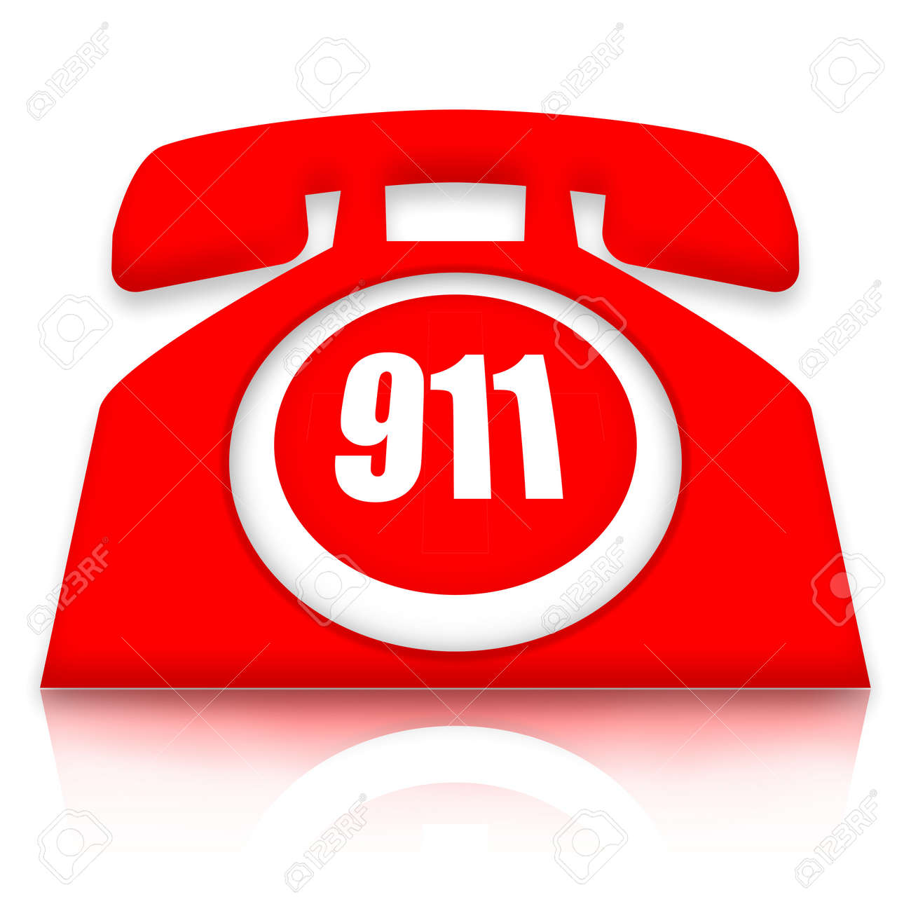 Emergency stop icon clipart emergency off - Emergency Button Emergency Phone With 911 Nomber Over White Background Stock Photo