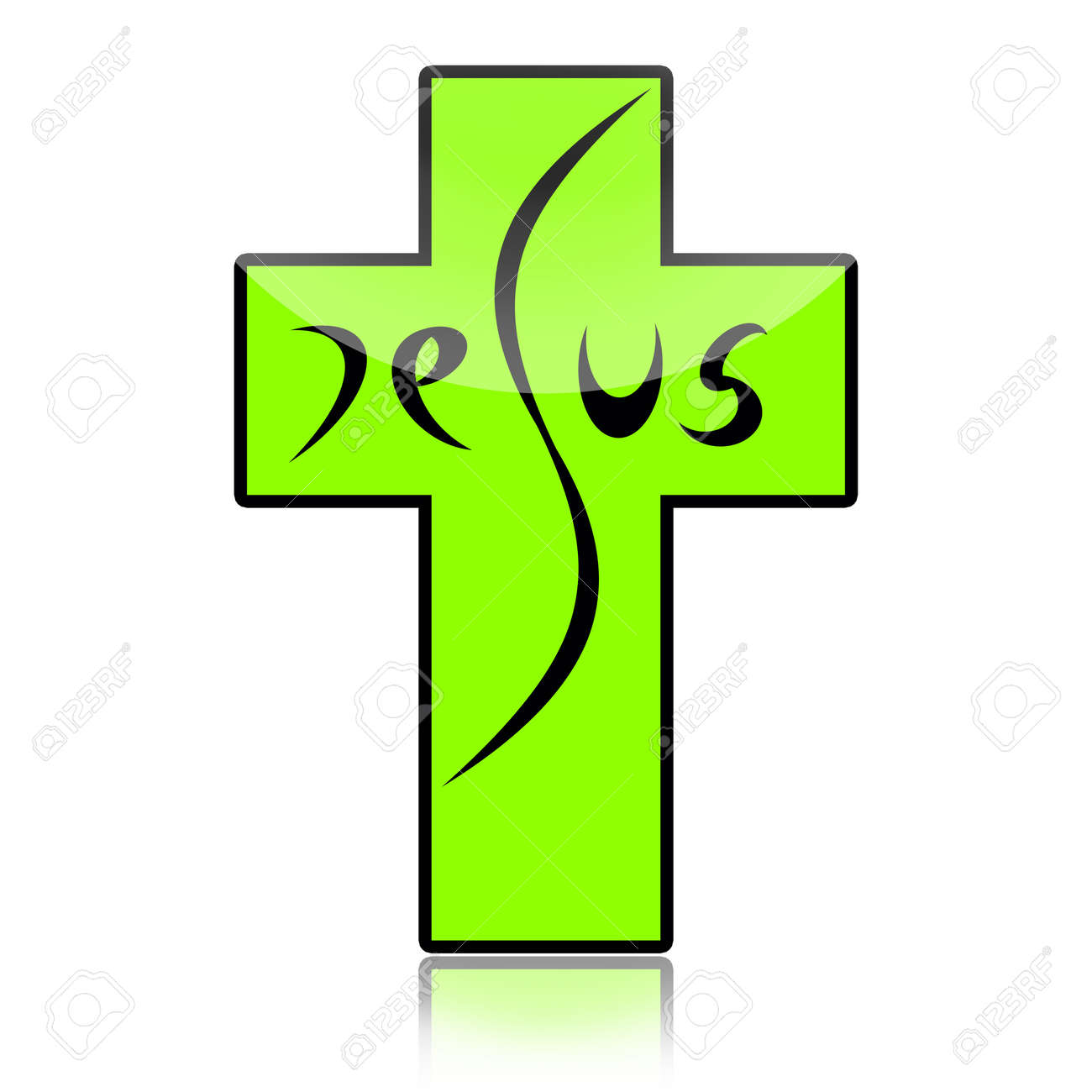 Jesus On The Cross Isolated On White Background Stock Photo, Picture ...