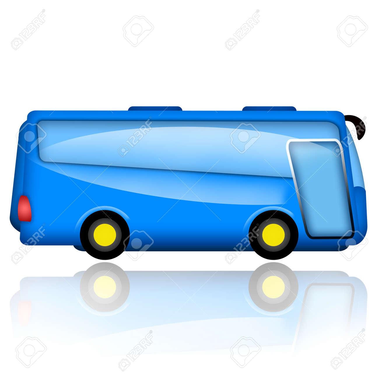 Bus illustration isolated on white background Stock Photo - 15149984