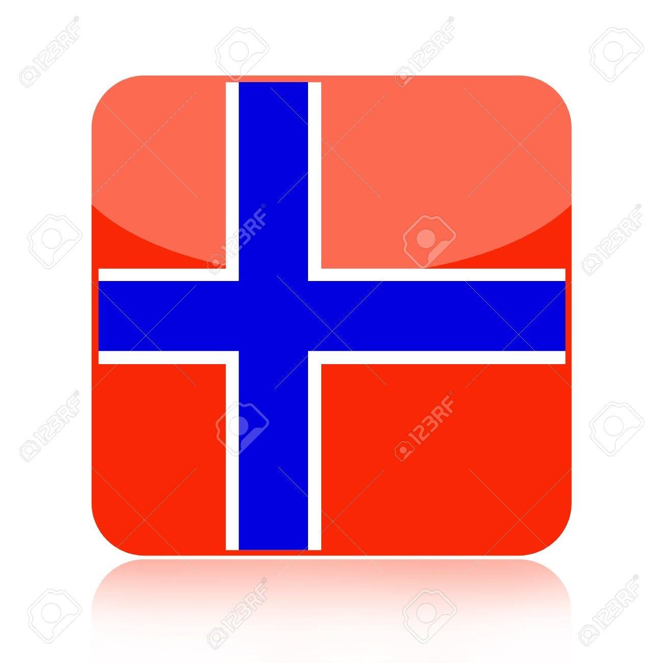 norwegian flag icon over white background stock photo picture and