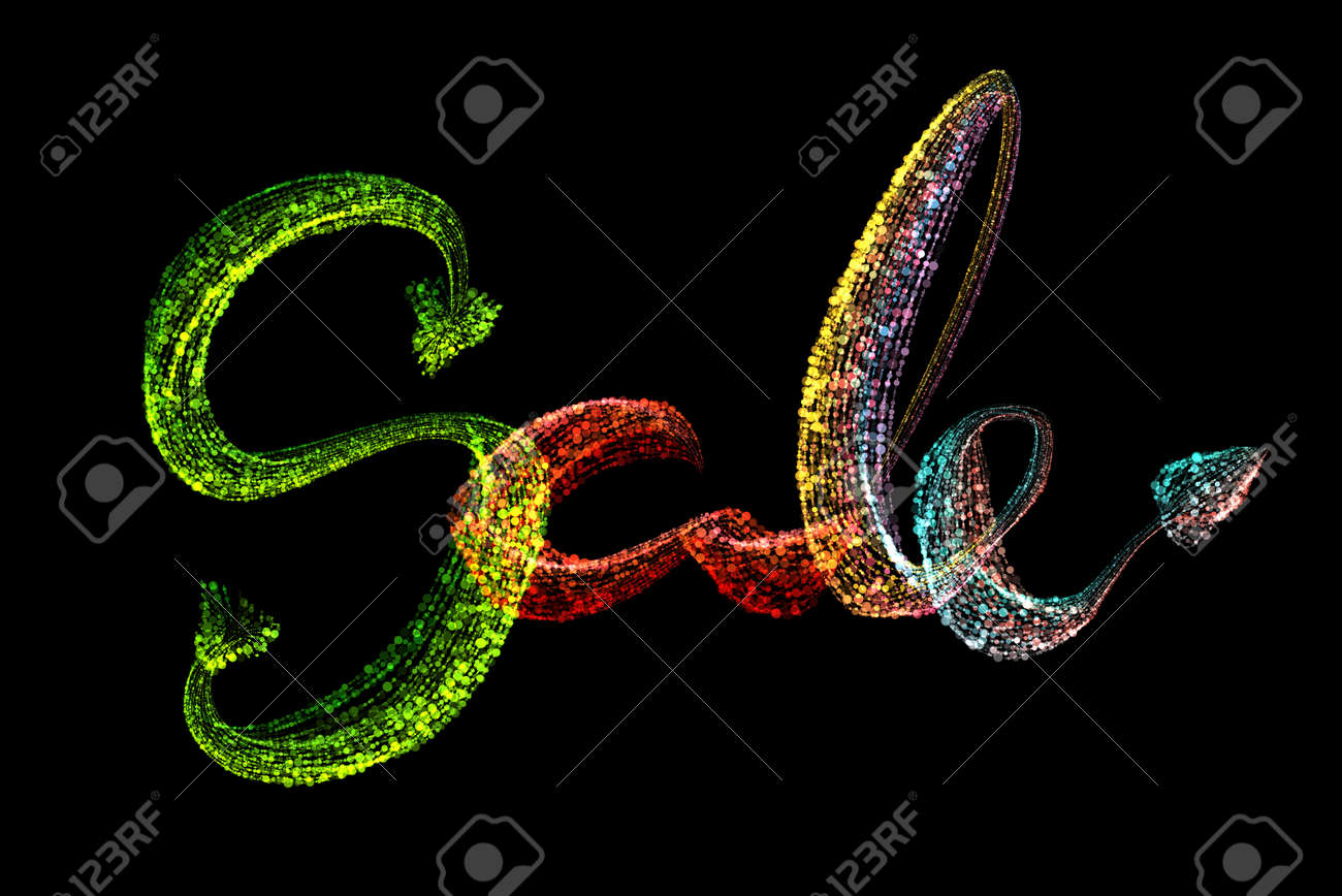 Sale Handmade Lettering Calligraphy Made By Colorful Rainbow Stock Photo Picture And Royalty Free Image Image 146877673