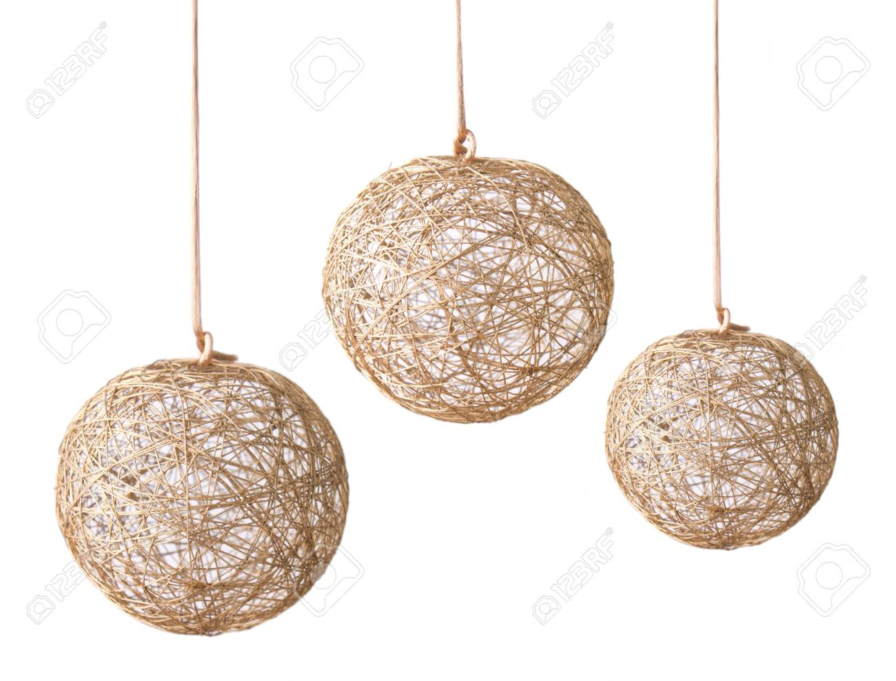 Christmas golden ball isolated on white background Stock Photo - 16209478