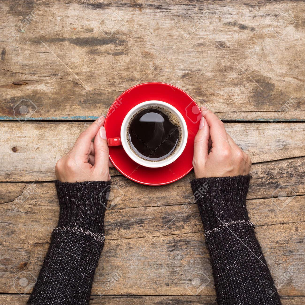 Coffee break background. Stop working drink espresso - 47319636