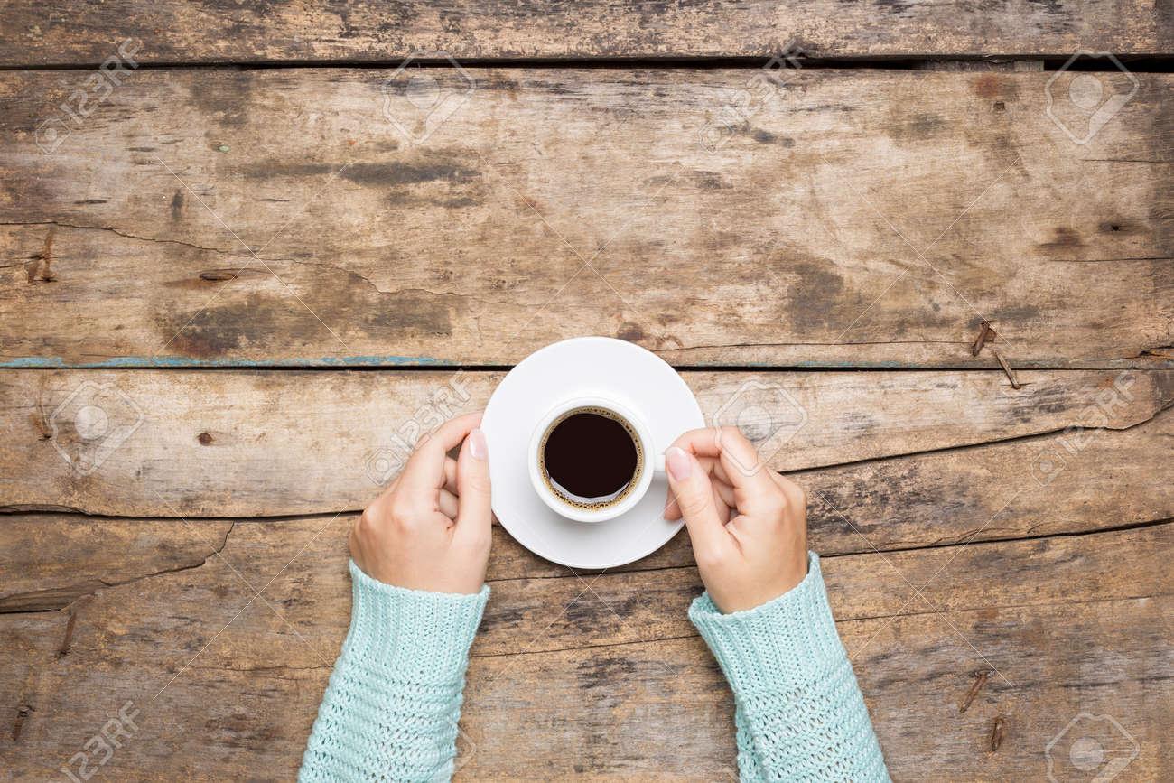 Coffee break background. Stop working drink espresso - 47657063