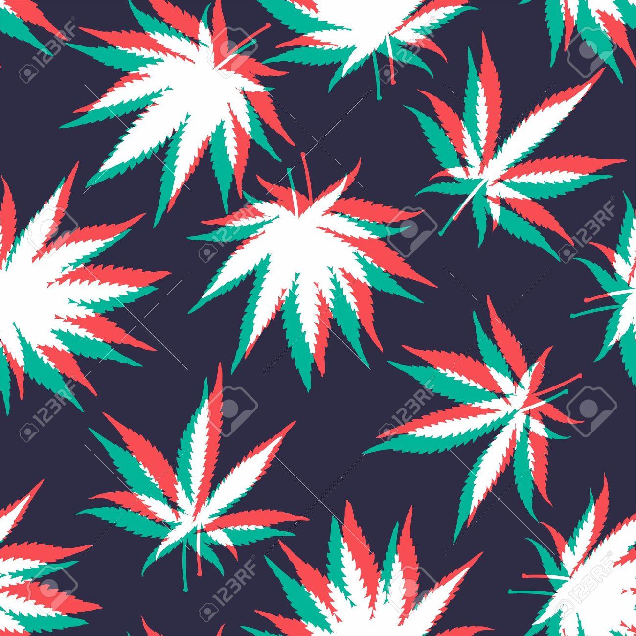 Ganja Weed Marijuana Seamless Vector Pattern Background Royalty Free Cliparts Vectors And Stock Illustration Image 49353009