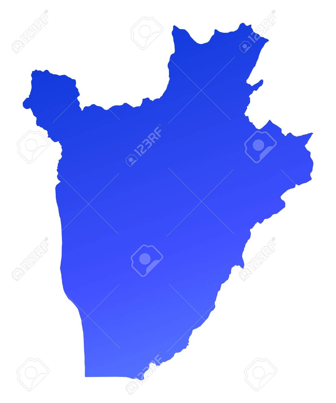 Blue gradient Burundi map. Detailed, Mercator projection. Stock Photo - 2114559