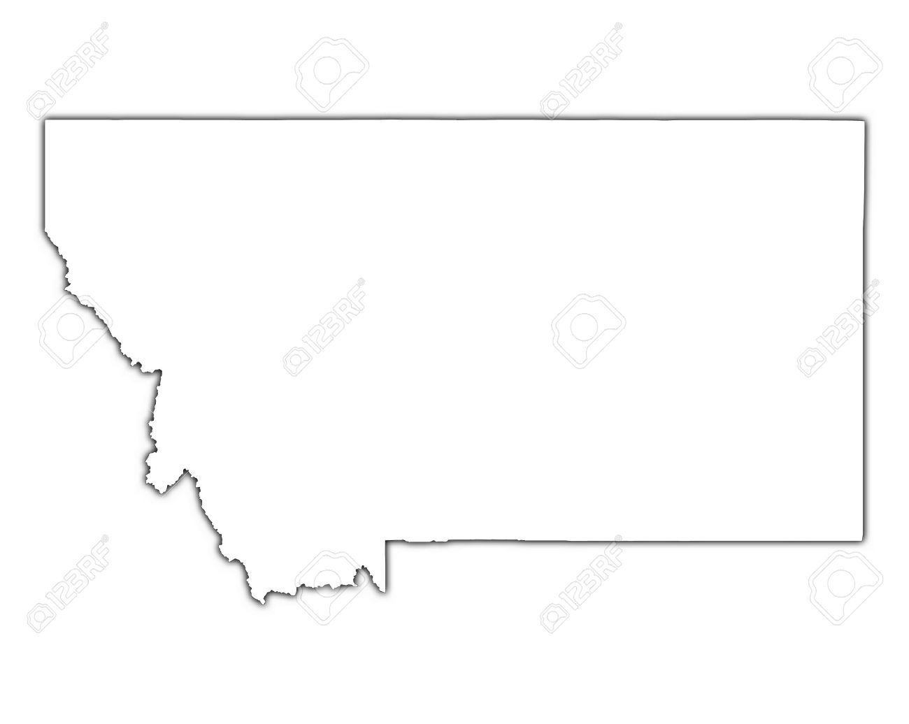 Usa Blank Map Broncos Stadium Map - Montana blank physical map