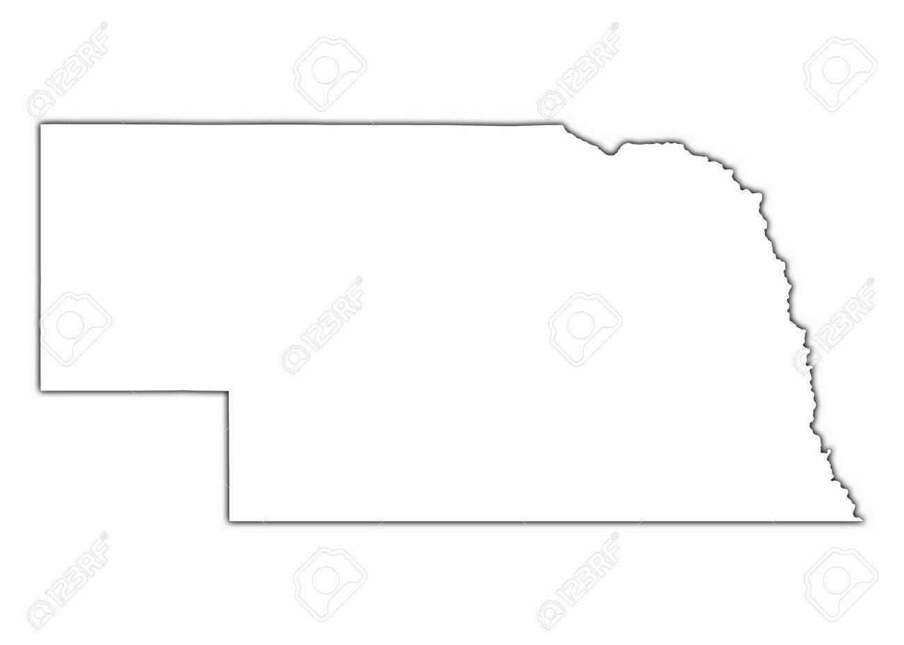 Nebraska State Maps USA Maps Of Nebraska NE Vector Color Map Of - Nebraska map usa