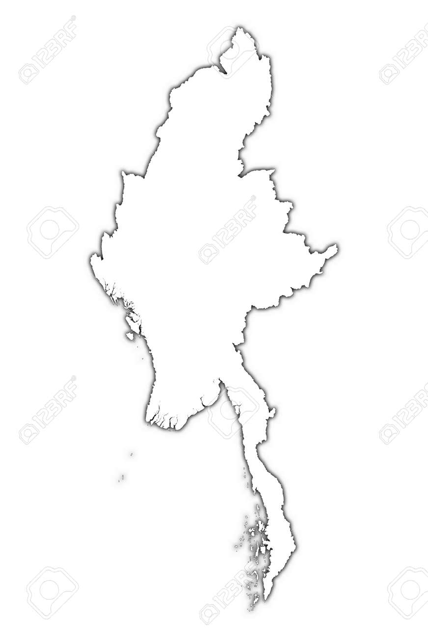 burma outline map with shadow detailed mercator projection stock Burma World Map burma outline map with shadow detailed mercator projection stock photo 2214283