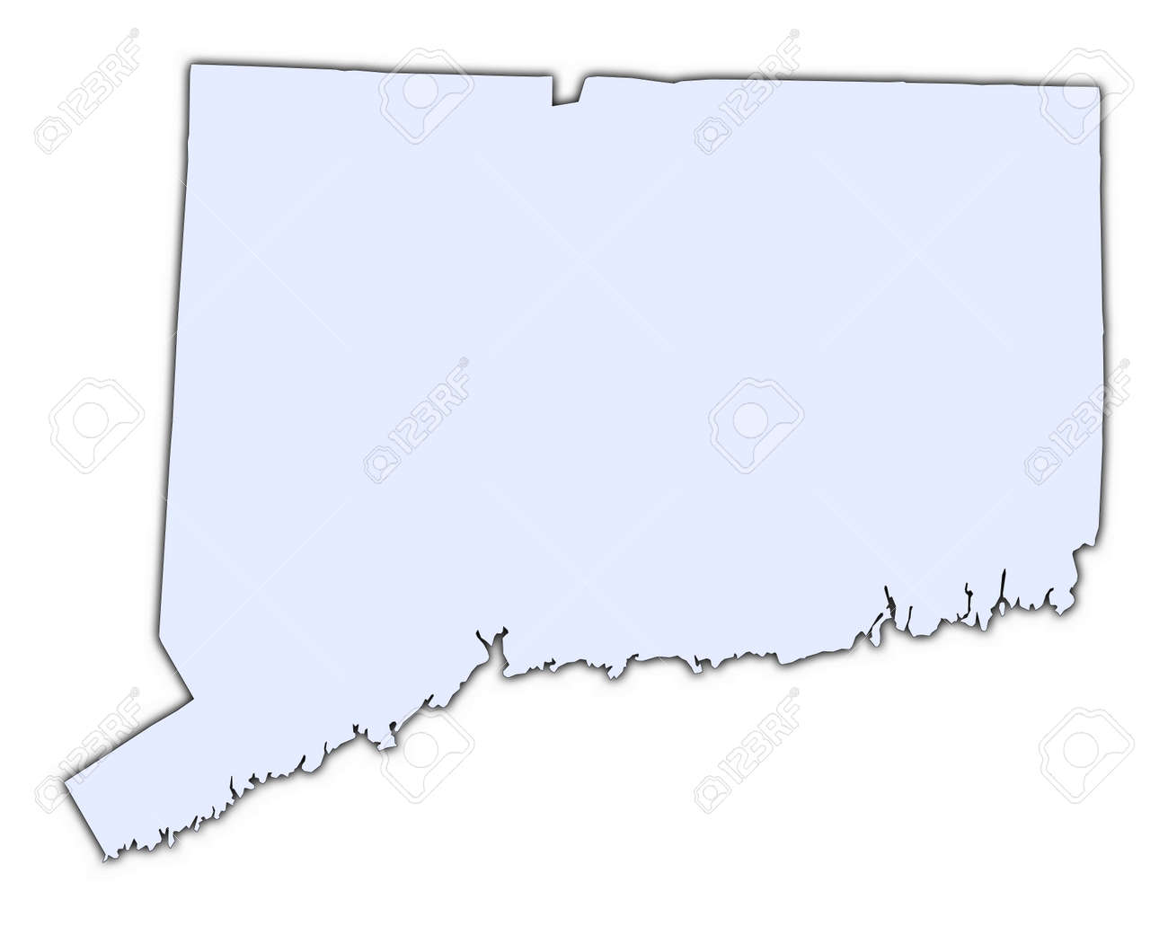 Reference Map Of Connecticut USA Nations Online Project Maps Of - Map of usa connecticut