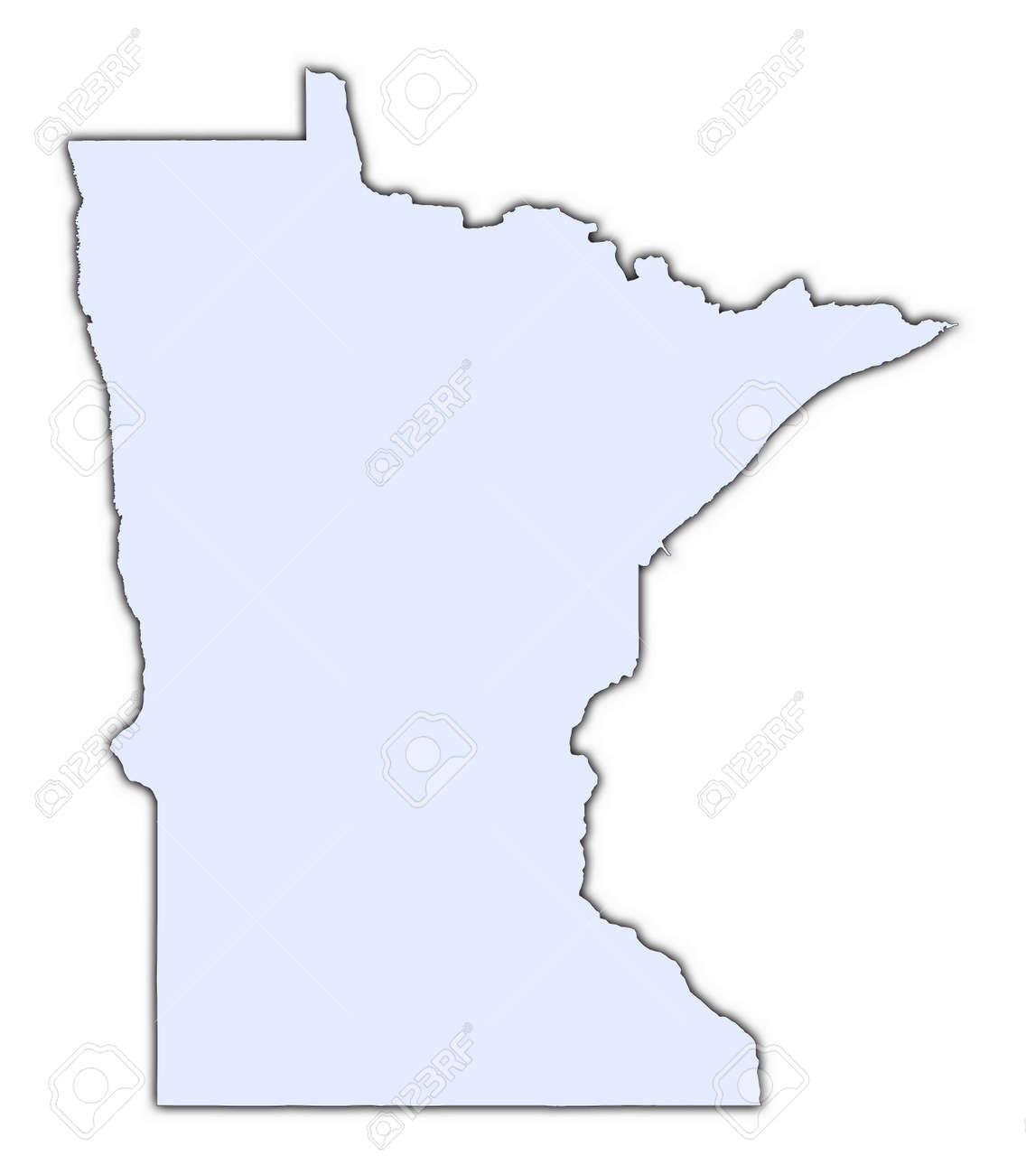 Minnesota State Maps USA Maps Of Minnesota MN Minnesota State - Us map mercator
