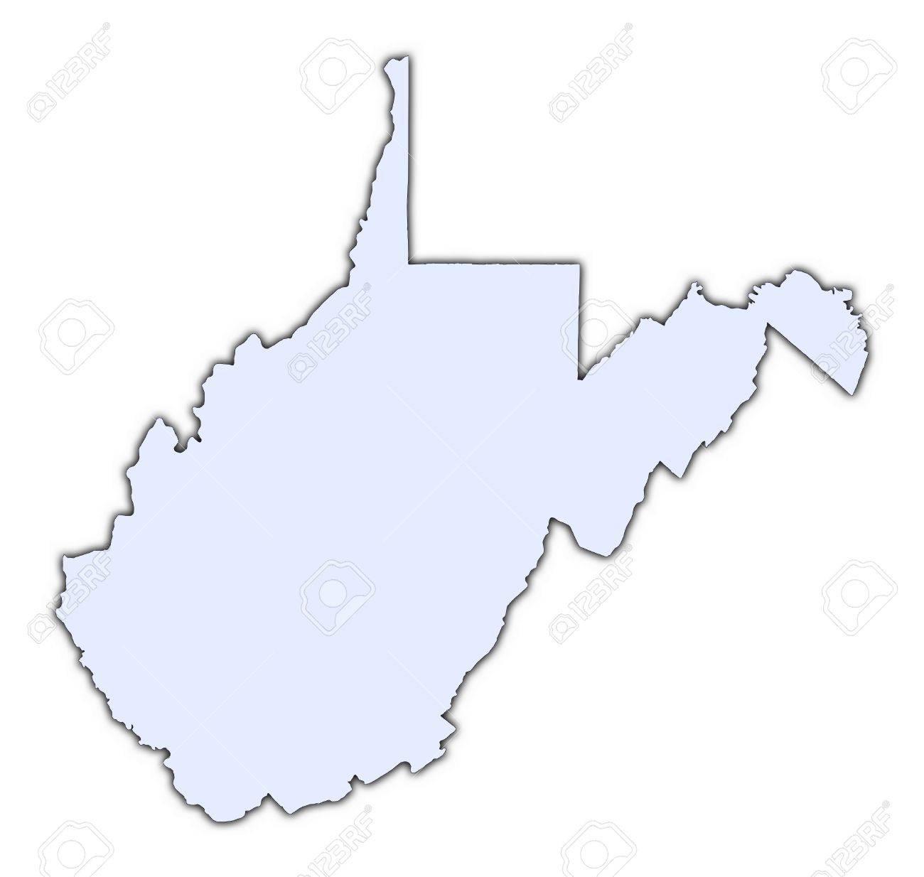West Virginia (USA) light blue map with shadow. High resolution... on usa map potomac river, usa map guam, usa map charleston, usa map jamaica, usa map memphis tn, usa map circle, usa map orange county, usa map navy, usa map fort worth, usa map st. augustine, usa map long island, usa map akron, usa map bahamas, usa map cincinnati, usa map by zipcode, usa map buffalo, map of virginia, usa map roanoke, usa map fort lauderdale, usa map virgin islands,