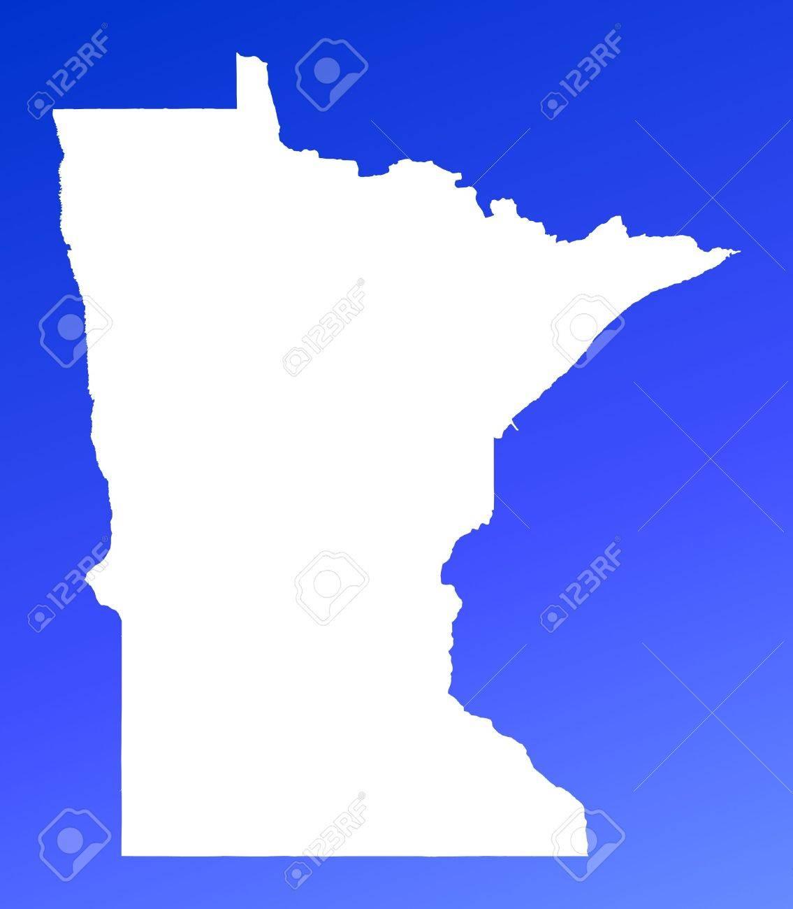 MinnesotaUSA Map On Blue Gradient Background High Resolution – Map Usa High Resolution