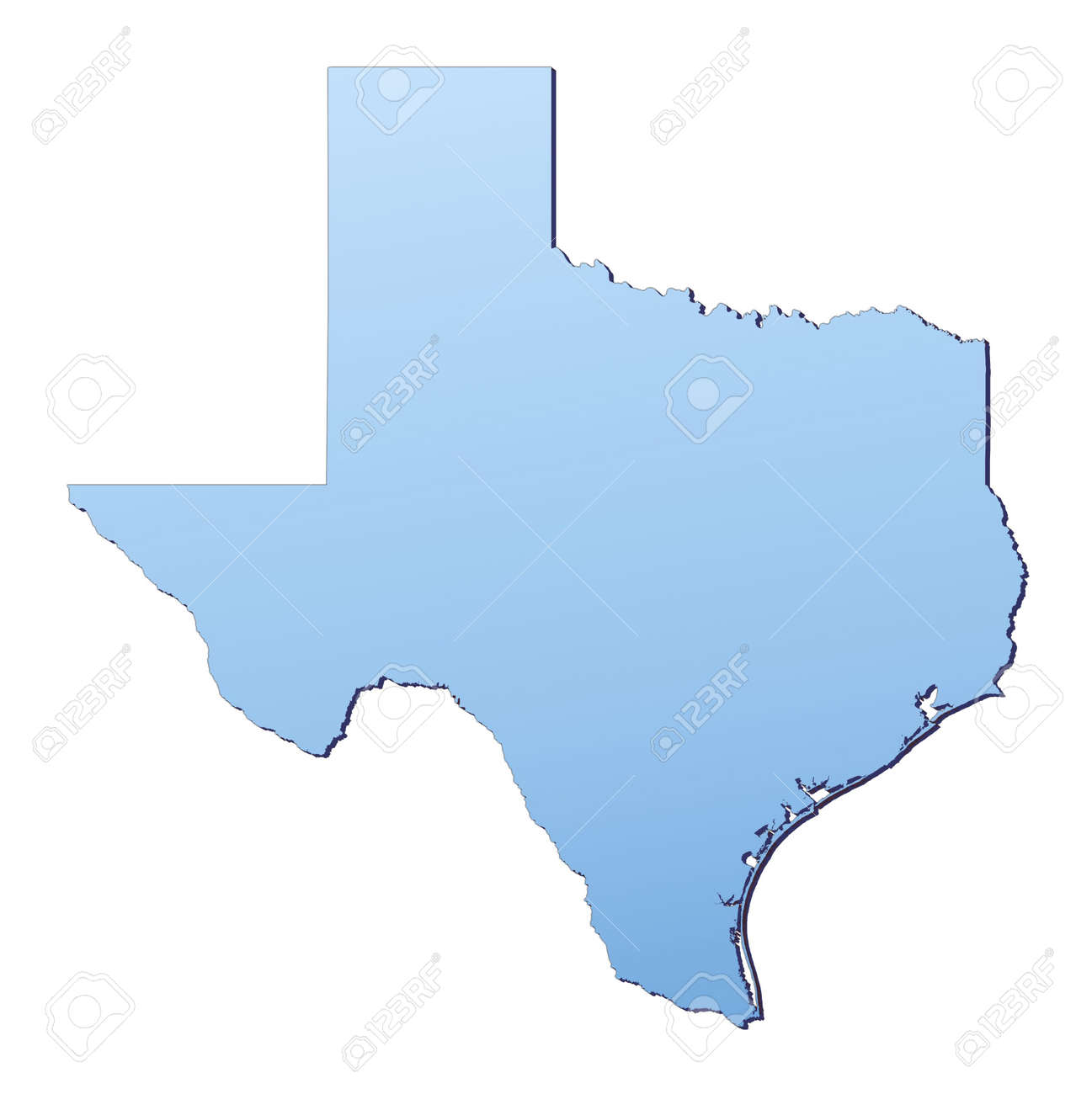 TexasUSA Map Filled With Light Blue Gradient High Resolution – Map Usa High Resolution