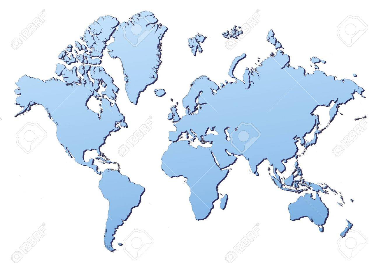 World map filled with light blue gradient high resolution mercator stock photo world map filled with light blue gradient high resolution mercator projection gumiabroncs Choice Image