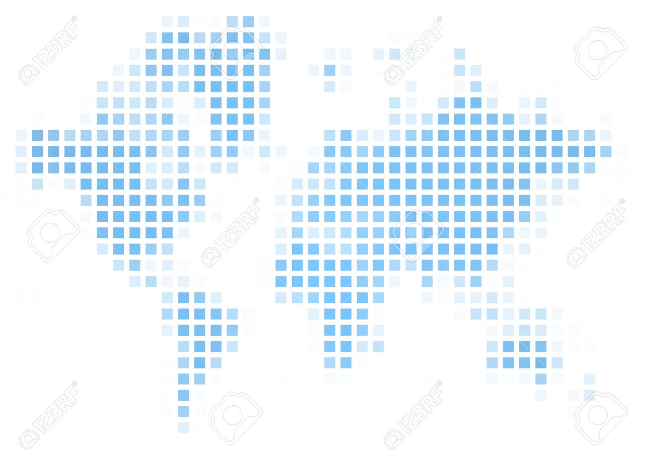 World map square mosaic. Easy to recolor. Stock Photo - 2575958