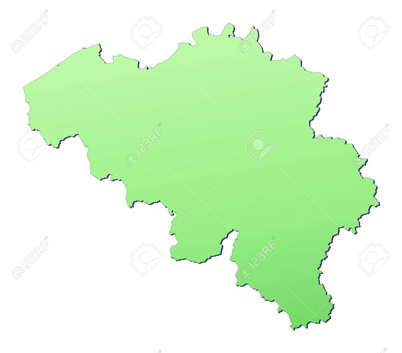Belgium Map Filled With Light Green Gradient High Resolution – Belgiummap