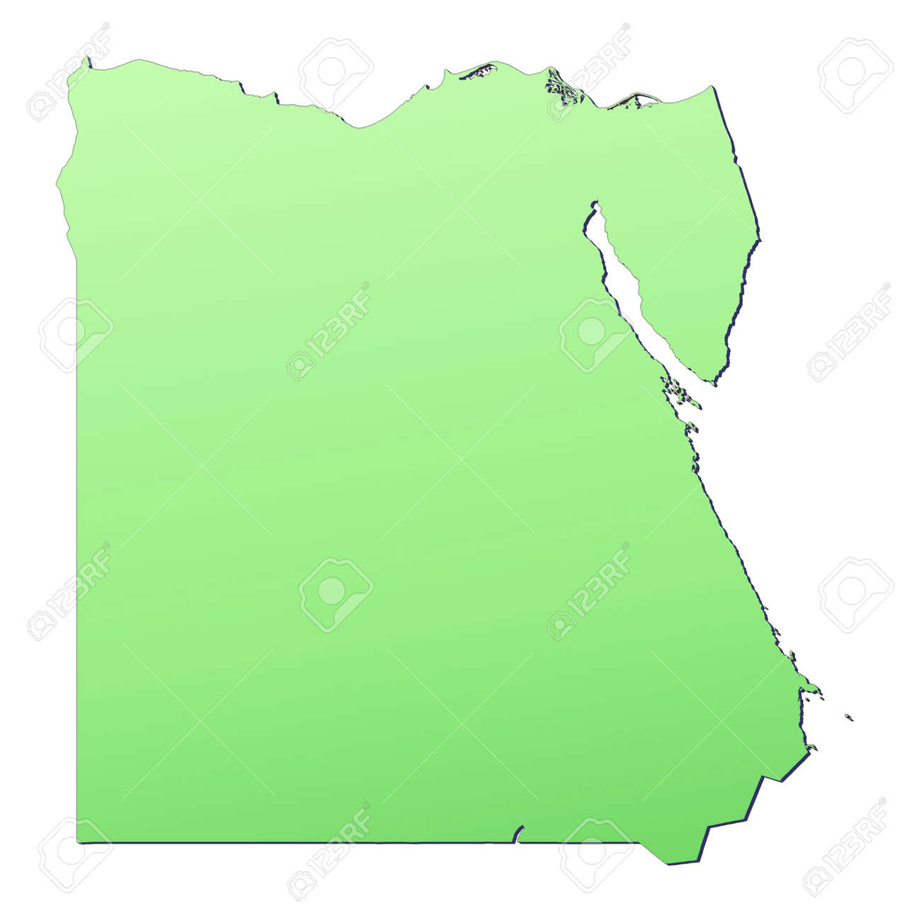 Egypt Map Filled With Light Green Gradient High Resolution - Map of egypt high resolution
