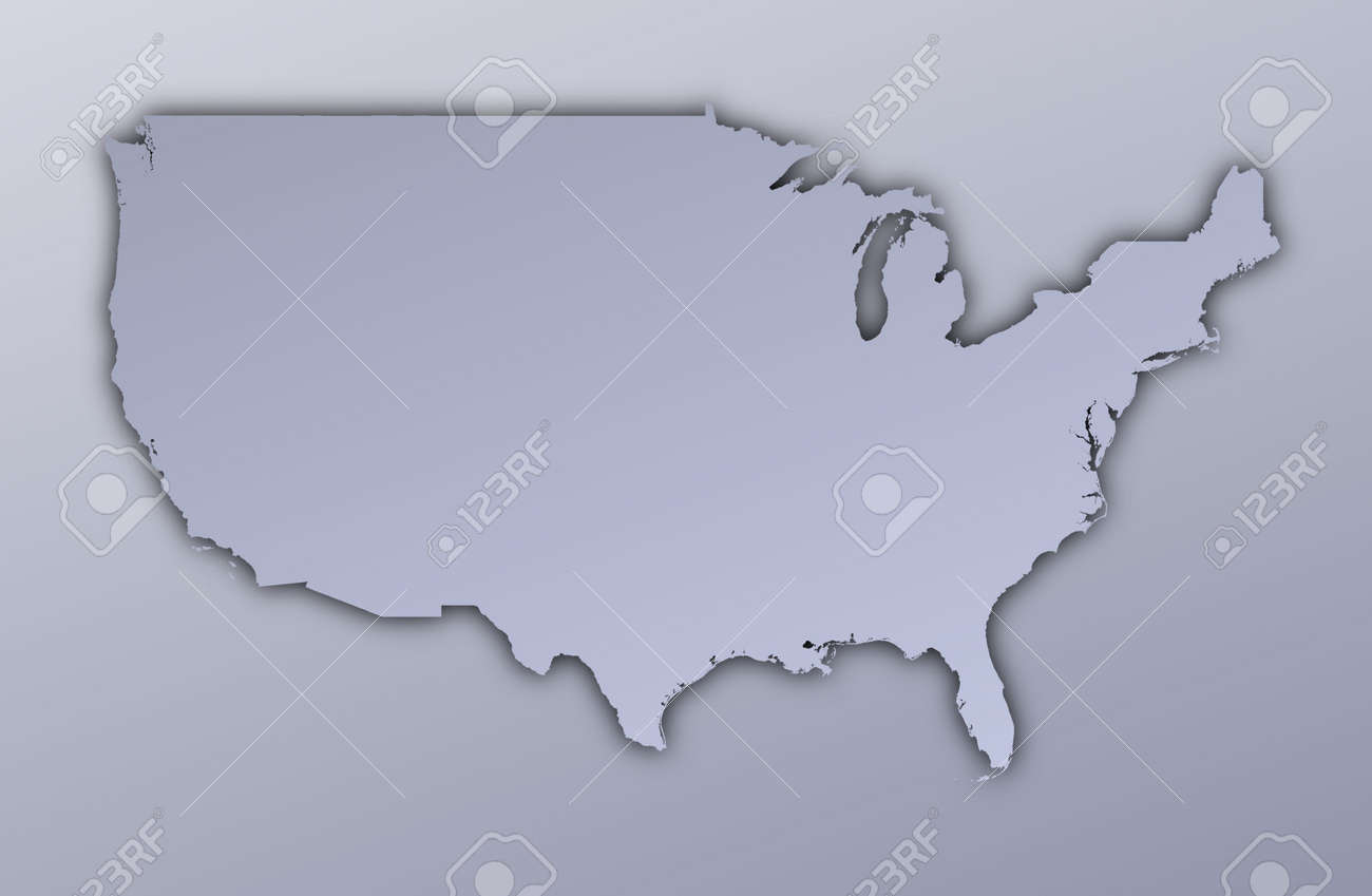 stock photo united states map filled with metallic gradient mercator projection