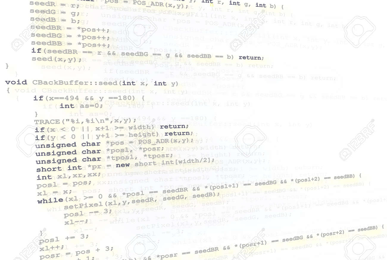 Programming source code background with highlighted syntax. Stock Photo - 3262279