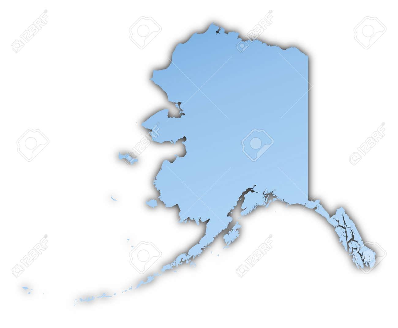AlaskaUSA Map Light Blue Map With Shadow High Resolution – Map Usa High Resolution