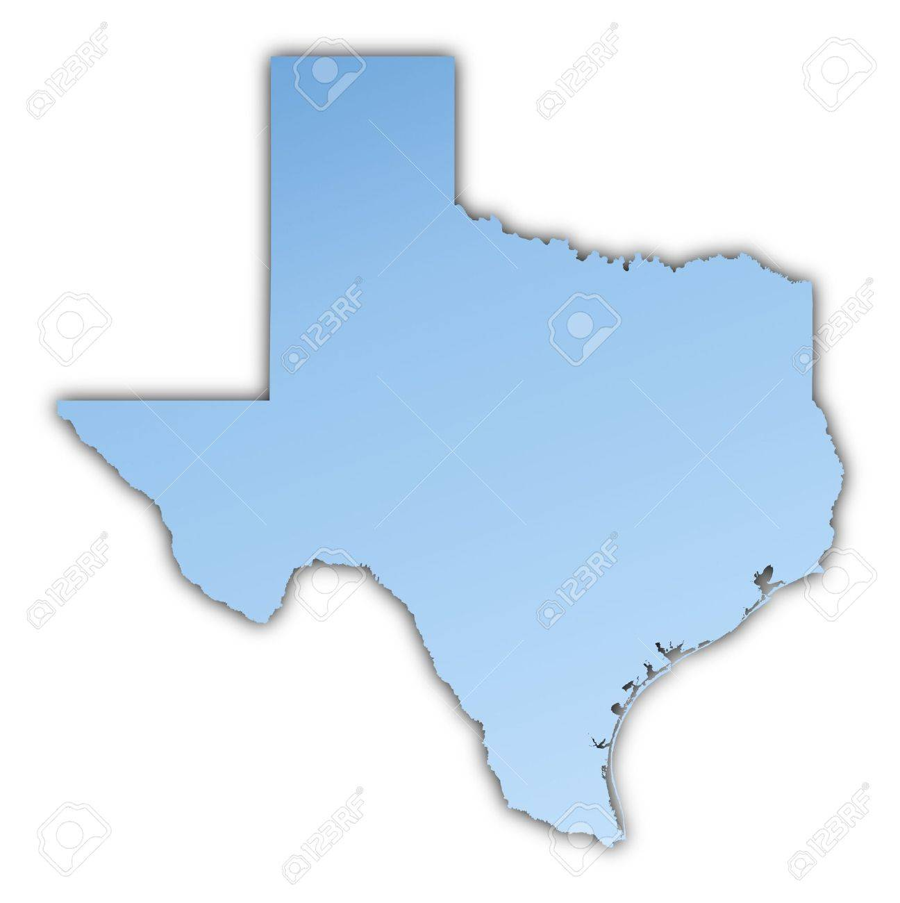 TexasUSA Map Light Blue Map With Shadow High Resolution - Free high resolution us map