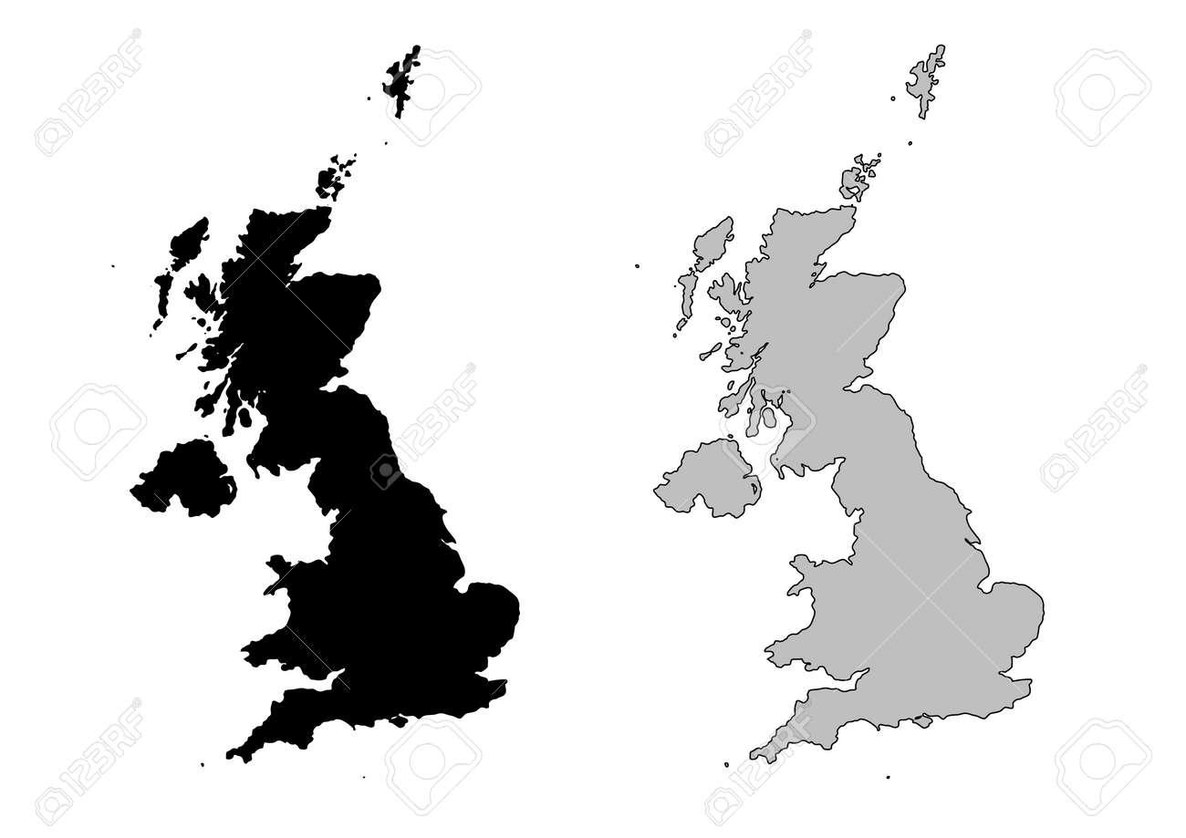 Map Of Uk Black And White.United Kingdom Map Black And White Mercator Projection