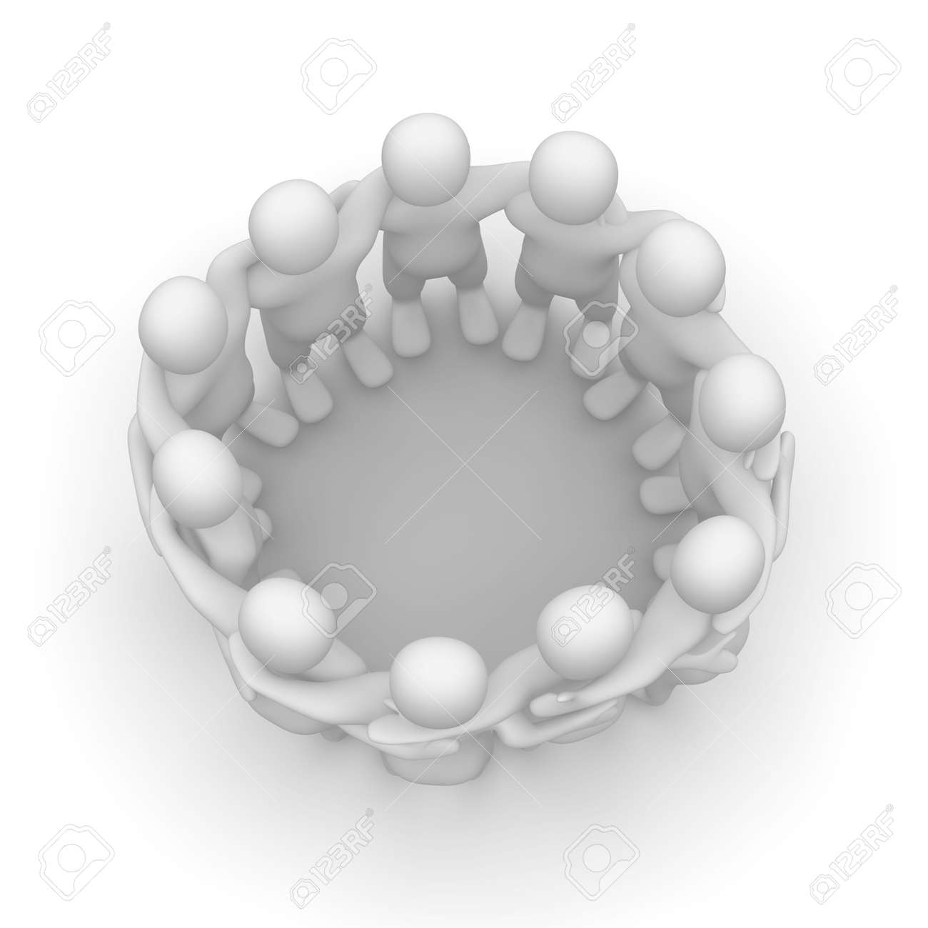 Friends meeting. 3d rendered illustration isolated on white. Stock Illustration - 4821005