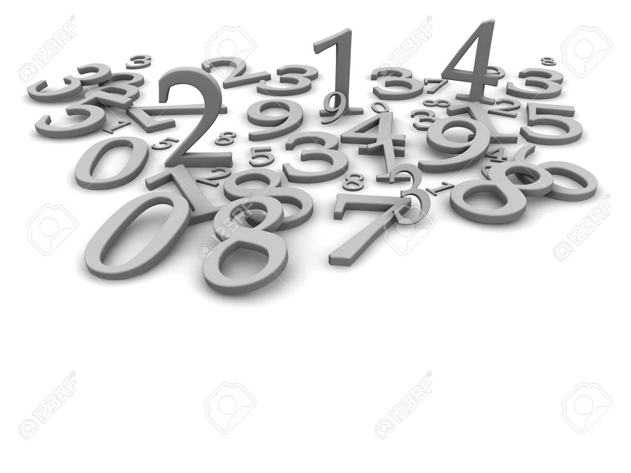 Black and white numbers background. 3d rendered illustration Stock Illustration - 6578097