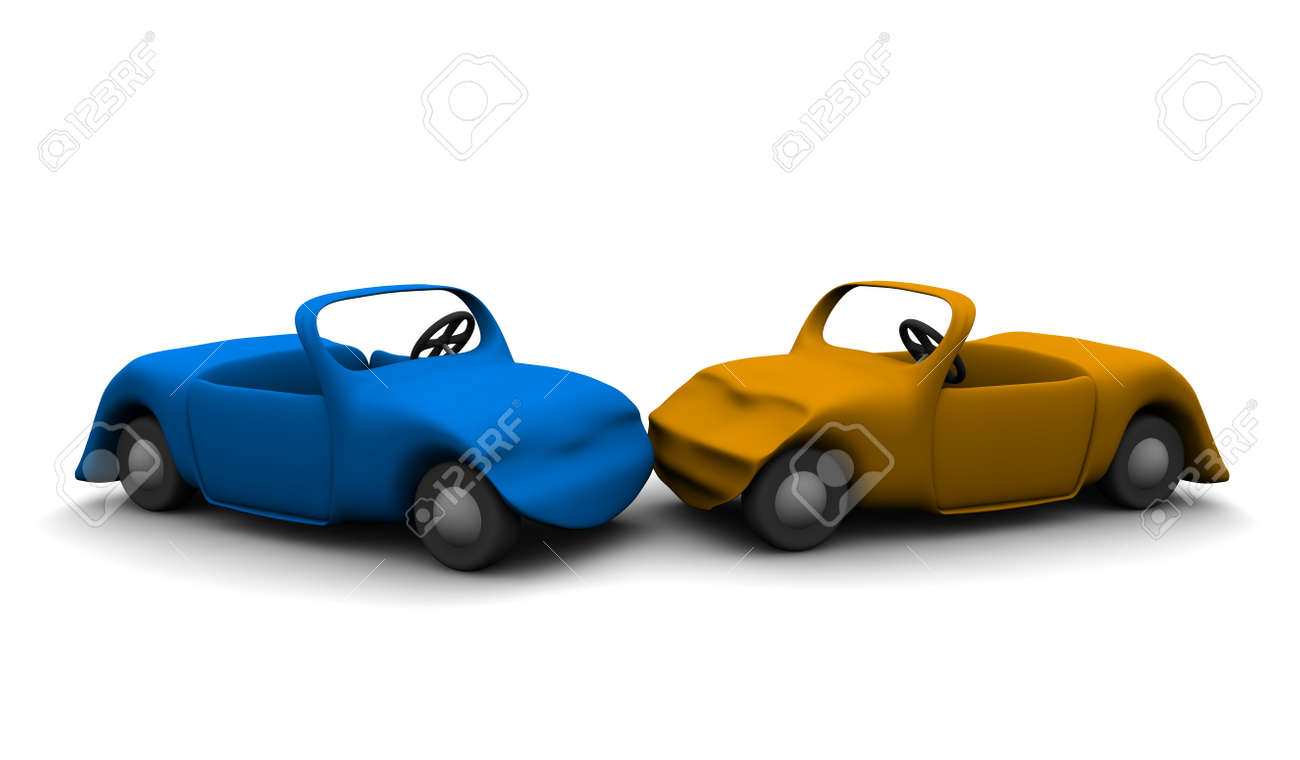 Car accident. 3d rendered illustration. Stock Illustration - 7005567