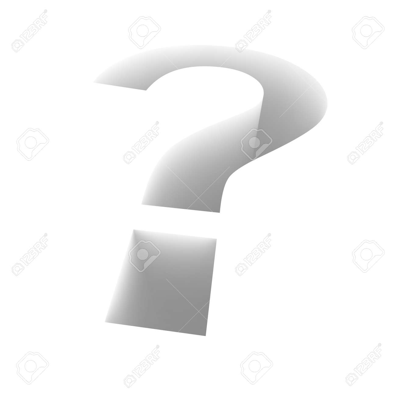 Extruded question mark. 3d rendered illustration. Stock Illustration - 7438121