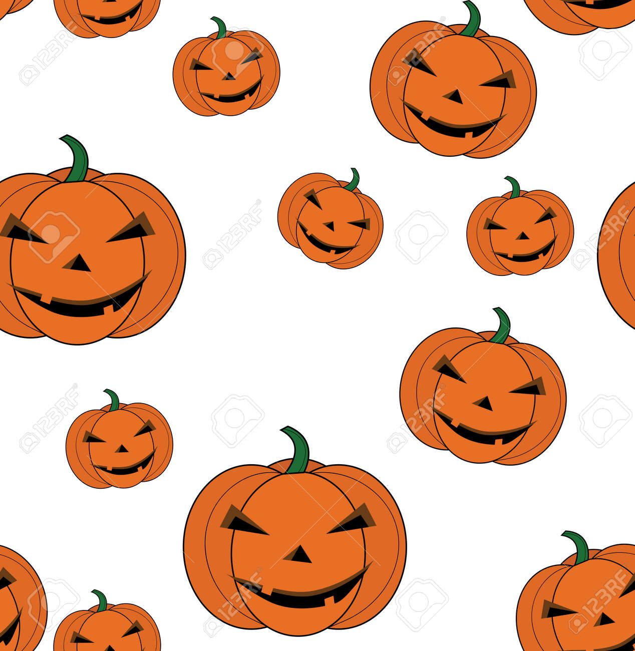 Seamless Pattern Pumpkin Cartoon For Halloween Card Wallpaper Royalty Free Cliparts Vectors And Stock Illustration Image 65042878