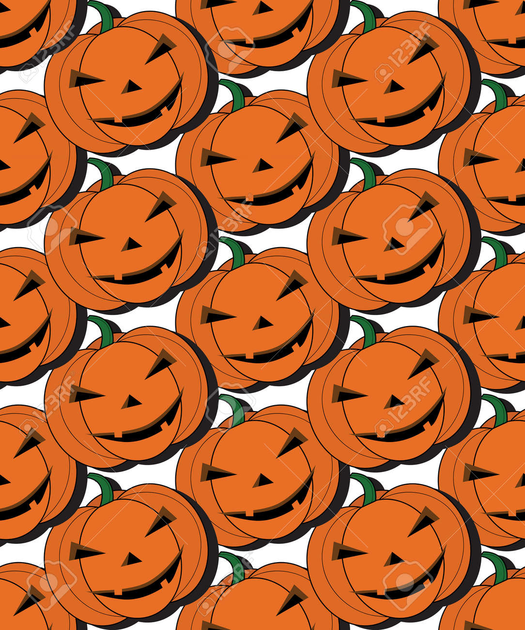Seamless Pattern Pumpkin Cartoon For Halloween Card Wallpaper Royalty Free Cliparts Vectors And Stock Illustration Image 65042877