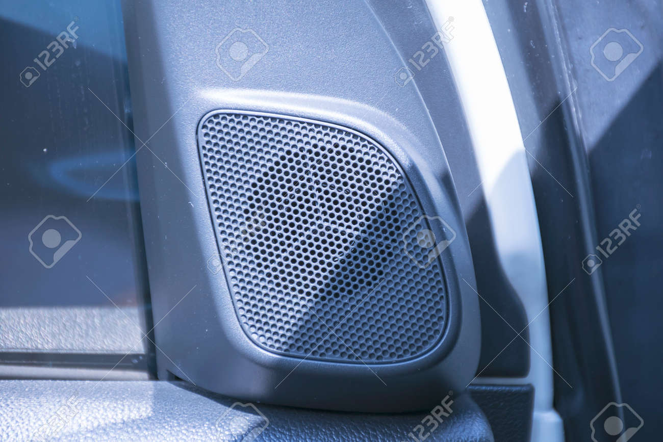 Car Sound Systems >> Close Up Loundspeakers In A Car Sound System Audio In