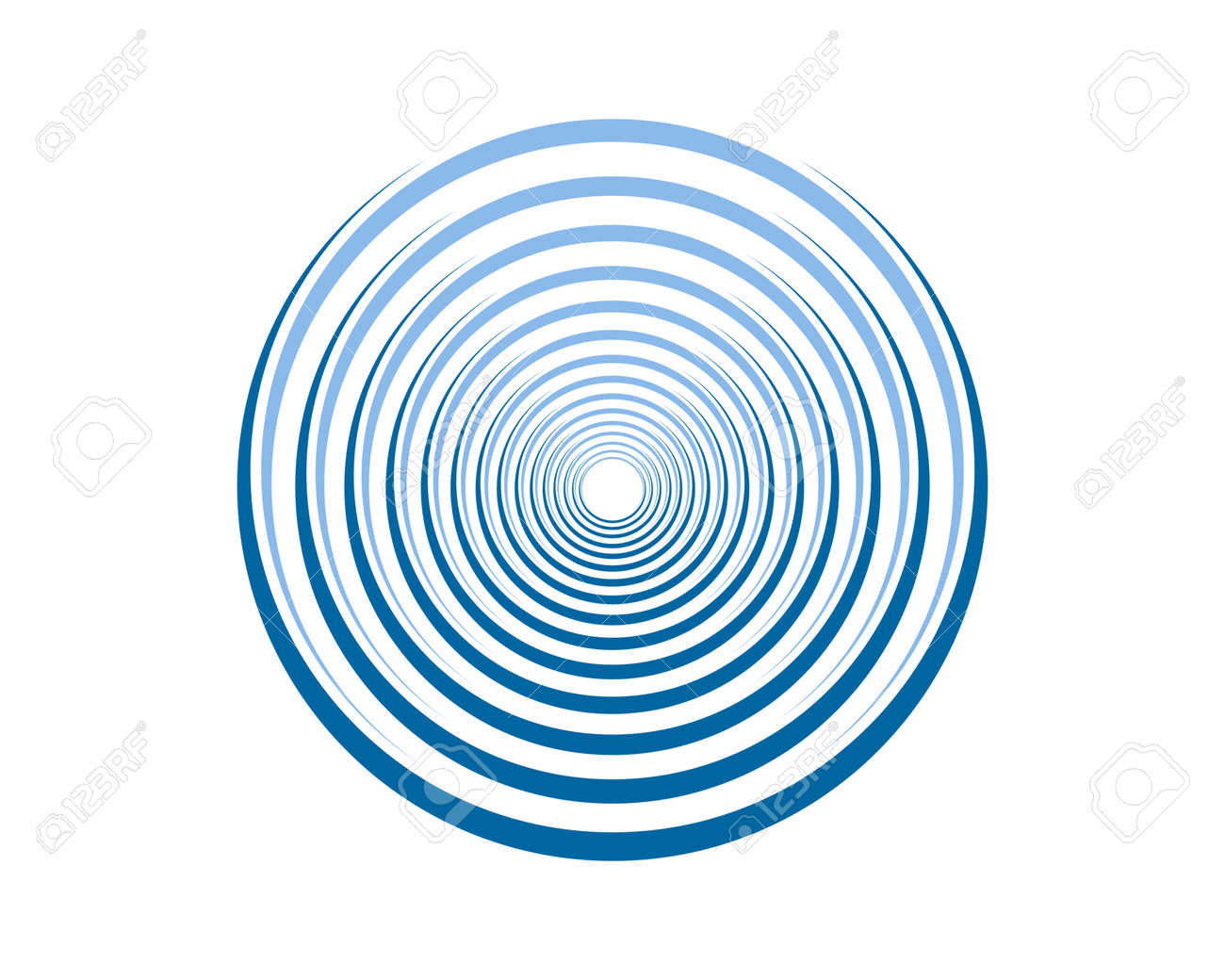 Ripple effect with circular blue - 159638582