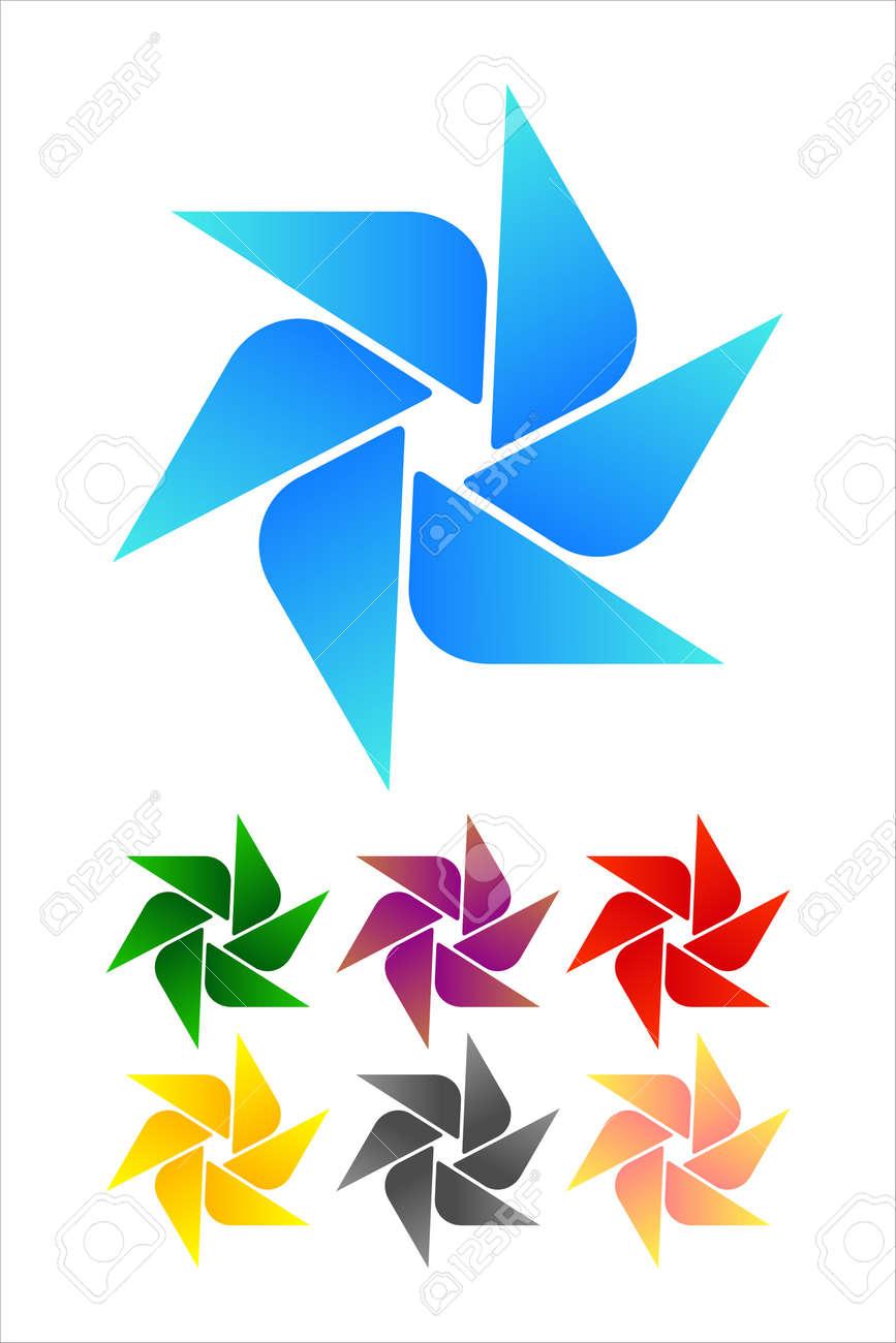 Molino De Viento Diseño Logo Elemento Infinito Cruz Cinta Vector ...