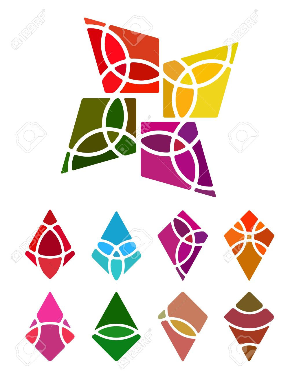 design logo abstract diamond shaped element crushing vector rh 123rf com diamond shaped logo design diamond shape logo on sunglasses