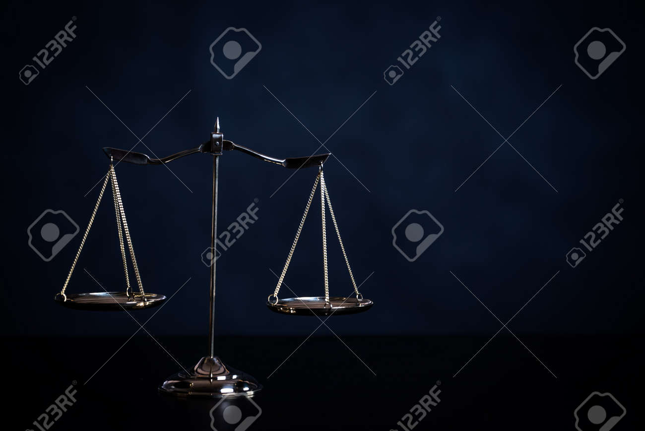 Symbols For Balance And Power In Law And Court Stock Photo Picture