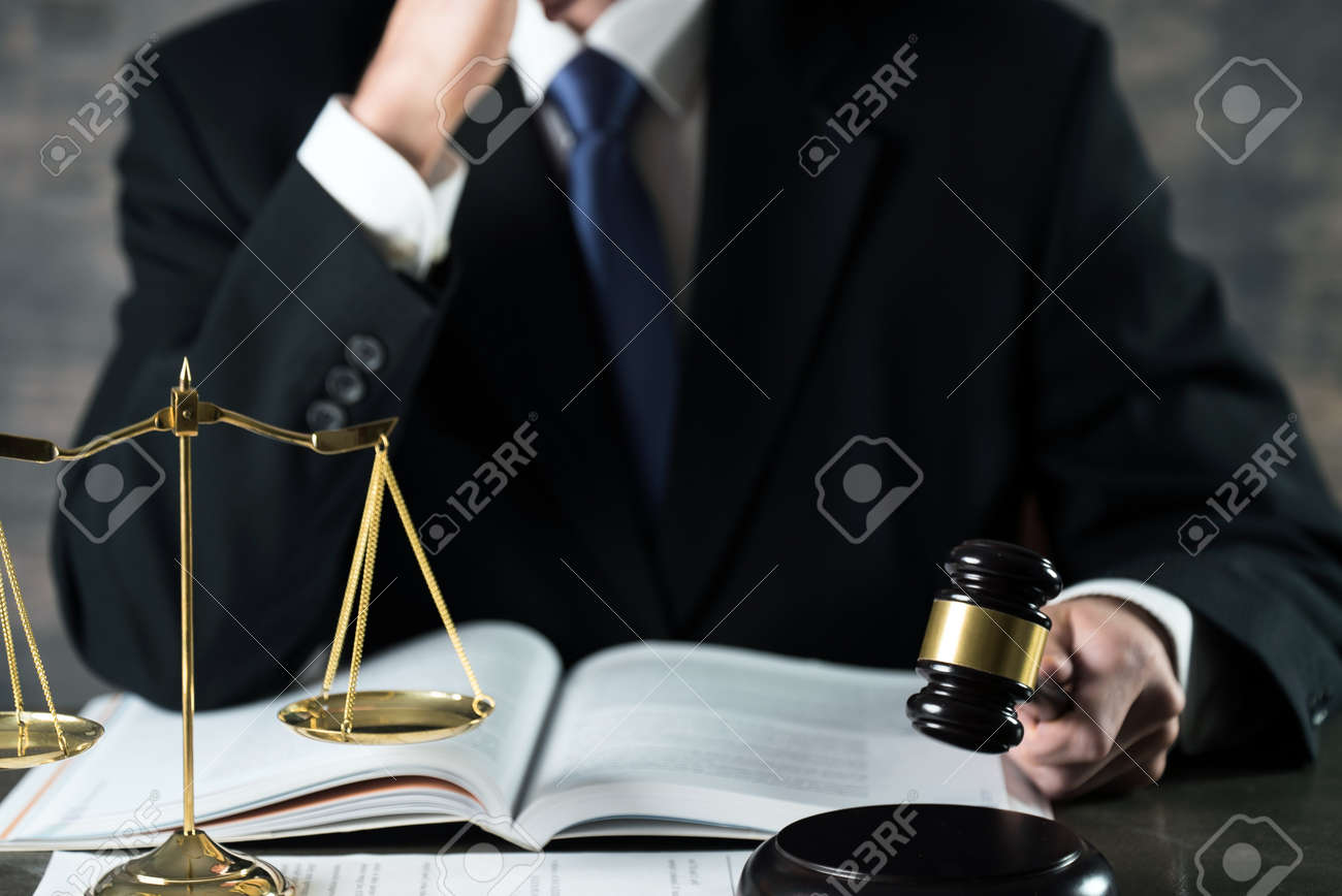 Male Lawer concept, legal office - 92362776